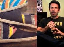 Ben Affleck diseñó zapatos TOMS