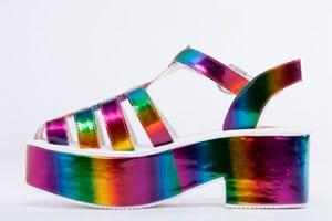 Tacones arco iris