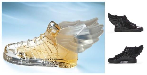 Un perfume con alas y zapatillas