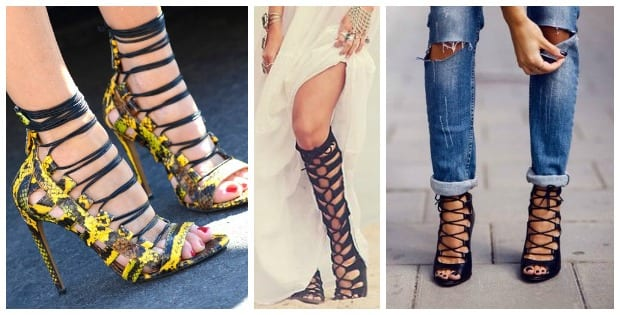 Lace up Sandals, pisadas de Gladiadoras