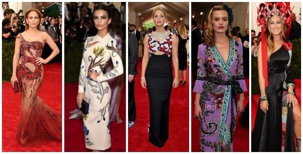 La moda posa en la Met Gala 2015