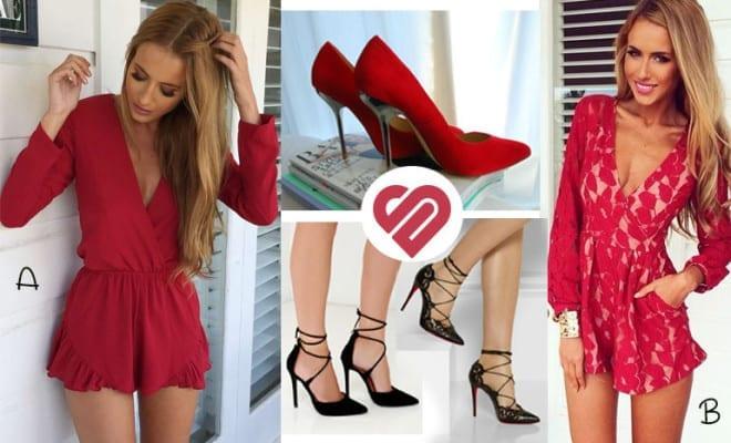 ¡2 estilos en rojo super lindos!