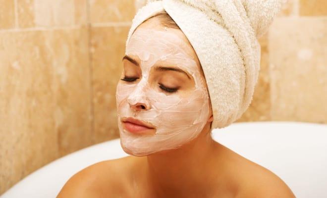 DIY mascarilla contra el acné.