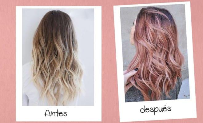 """""""Rosa dorado"""" El cambio de look que necesitas."""