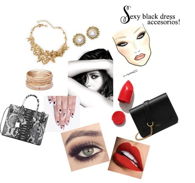 little black dress makeup