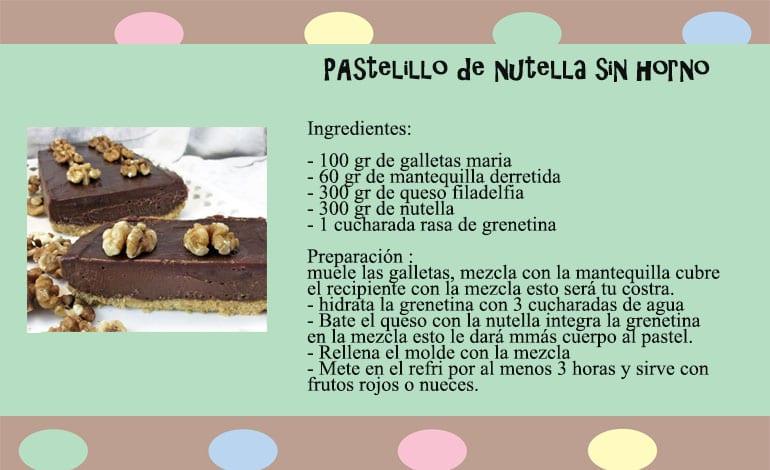 pastelillo de nutella