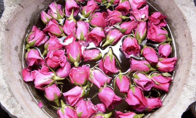 Loción hidratante de Rosas.