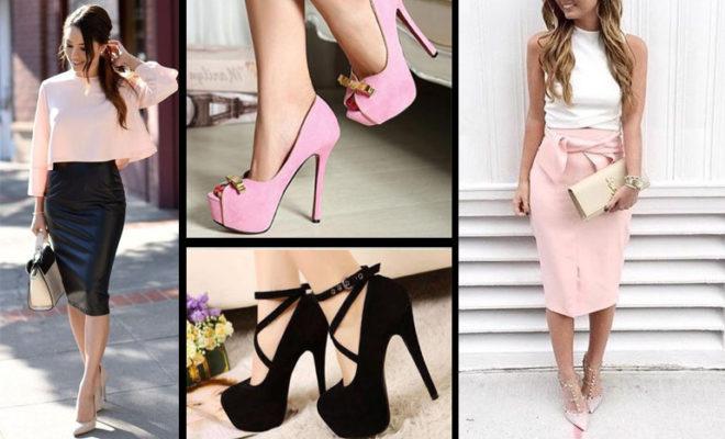 Cómo combinar faldas según los zapatos.