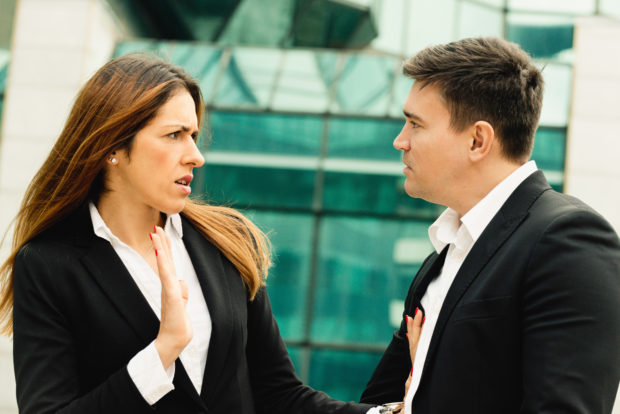 Sexual harassment on work between two business people