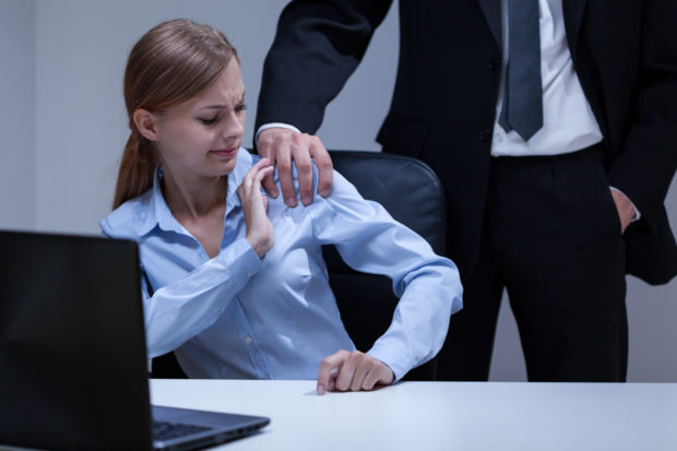 View of sexual harassment in the office