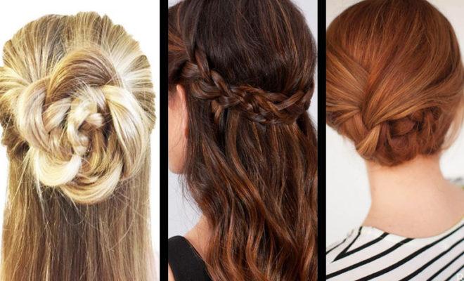 15 formas de traer el cabello recogido sin verte aburrida.
