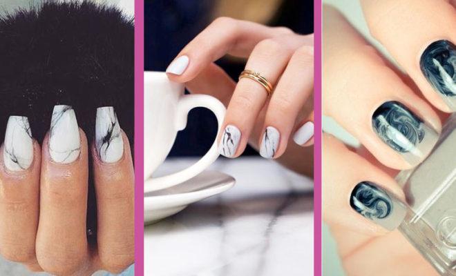 Manicure marmoleado… La era de piedra ha llegado a tus manos.
