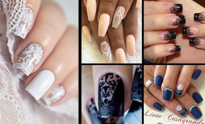 Los mejores manicures de encaje