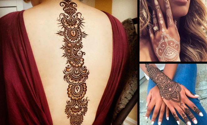 Las 5 partes de tu cuerpo que necesitan tatuajes de henna, ¡ya!