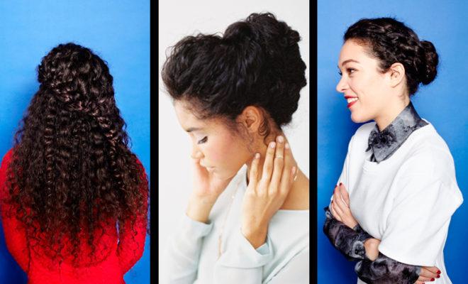 Peinados con trenzas para cabello rizado