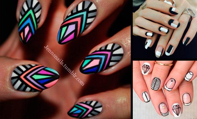 El manicure geométrico para tu estilo