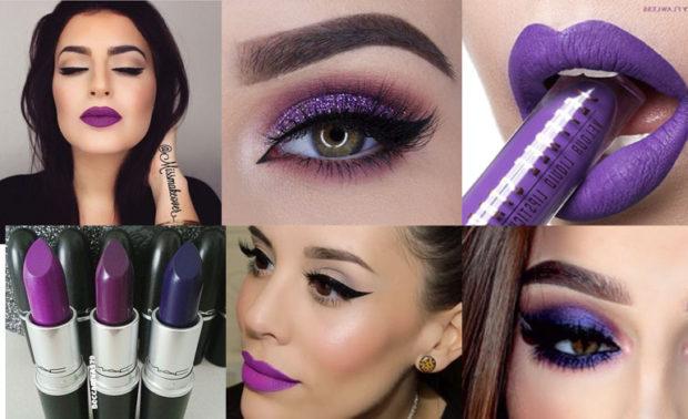makeup morado