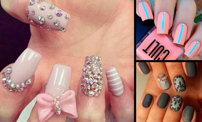 Los mejores diseños de pedrería en tus uñas
