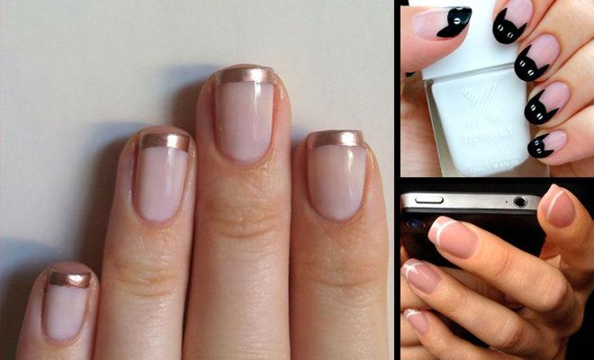 ¡Dale un twist al manicure francés!