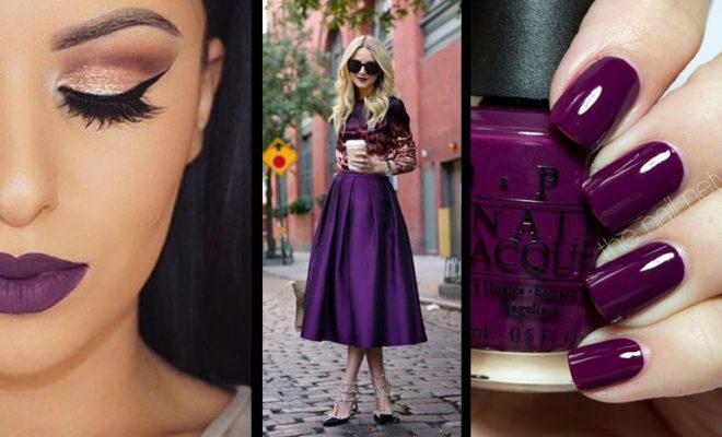 Los 10 looks perfectos para combinar tu lipstick morado.