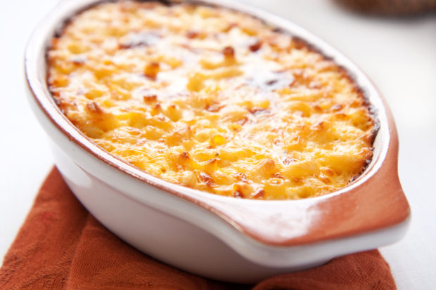 crispy, creamy, and cheesy macaroni and cheese is great for one and all!