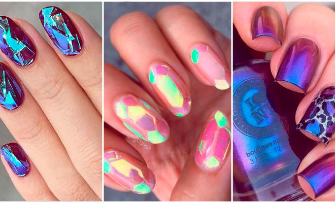 ¿Buscas un manicure atrevido? ¡Estos diseños iridiscentes son para ti!