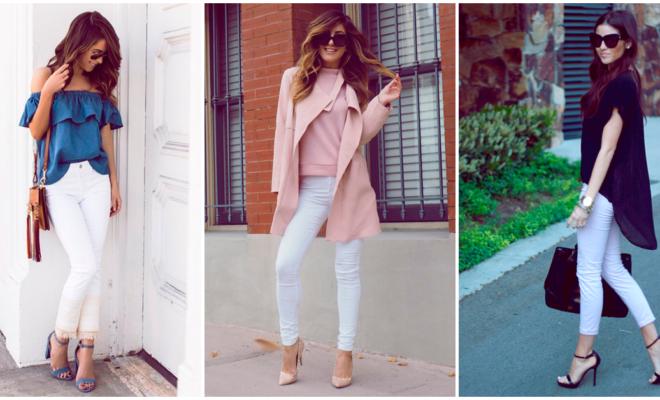 Aprende a combinar tus jeans blancos en cada estación del año