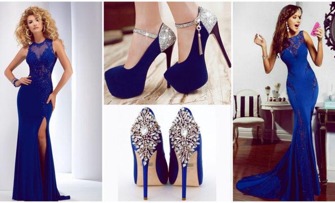 El perfecto vestido azul para una noche de fiesta