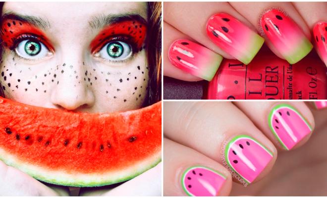 Diseños frutales para tus uñas, ¡qué colores tan bonitos!