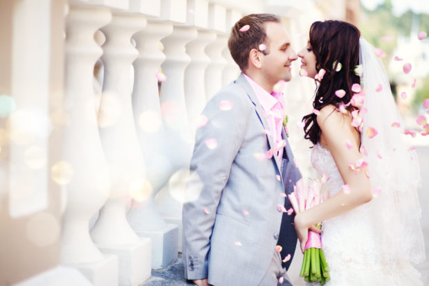 boda casados pareja feliz
