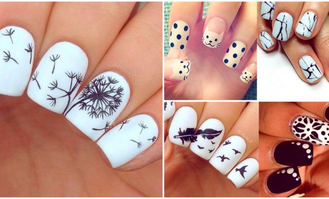 Las mejores manicuras en blanco y negro