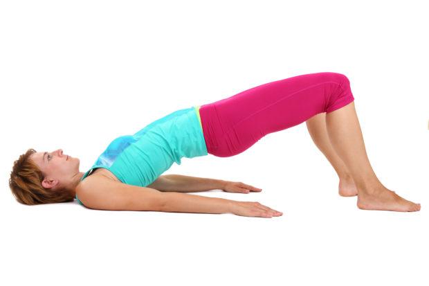 Beckenheben Krftigung Bein-Ges und Rckenmuskulatur