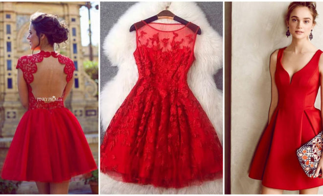 El mejor vestido rojo para salir de noche