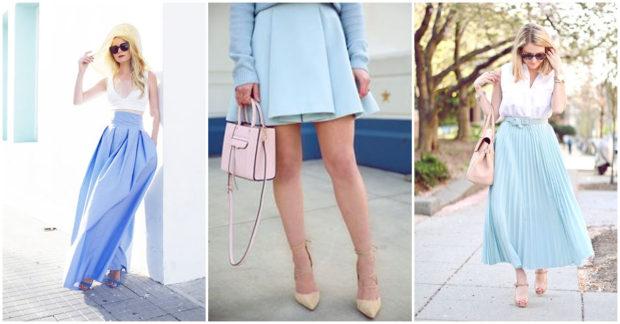 azul con falda