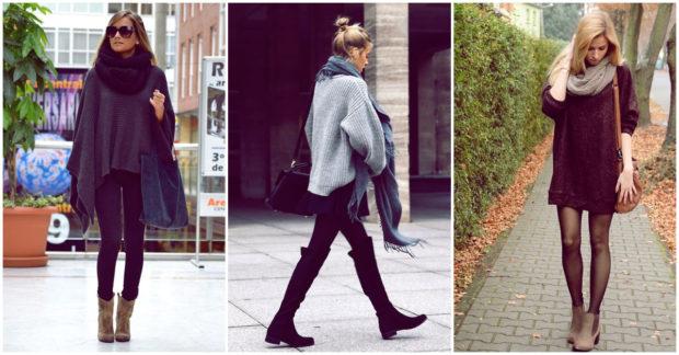 botas con maxi sweater