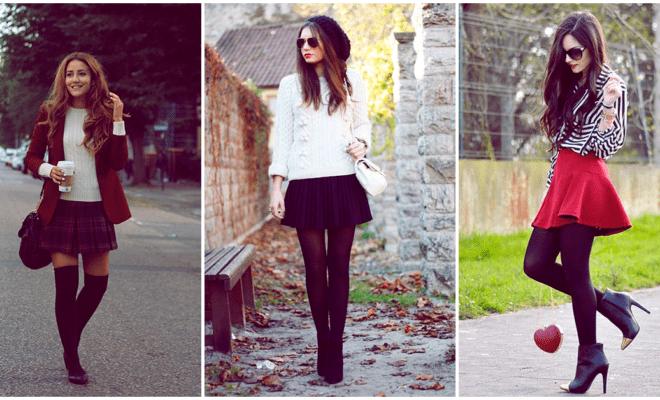 La forma más chic de usar falda en otoño