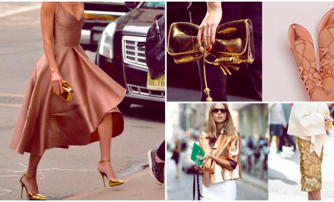 Cómo usar dorado en mi outfit