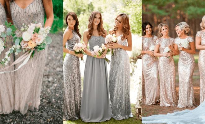Colores para los vestidos de tus damas de honor este 2018