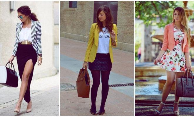 8 formas de usar tu blazer para lucir elegante