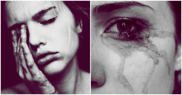 después de llorar-mujer