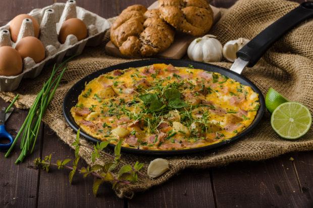 omelette huevo espinaca