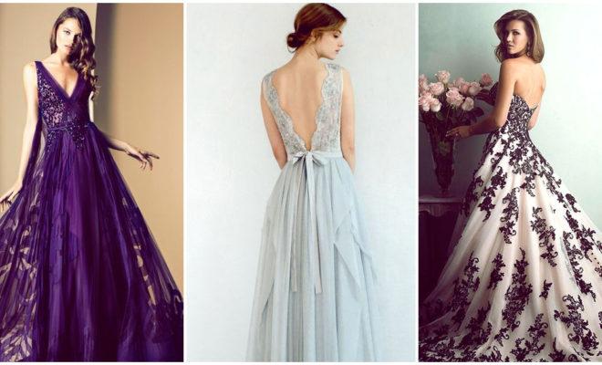 Vestidos de novia que te harán desistir del clásico blanco