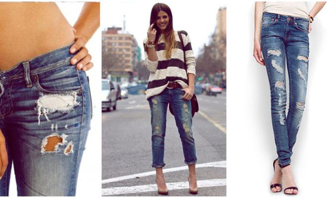 Reglas de etiqueta de los jeans desgastados