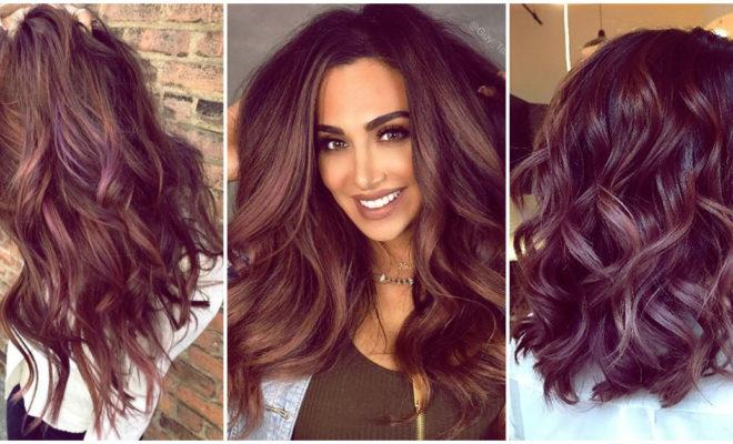 Nueva tendencia chocolate mauve hair