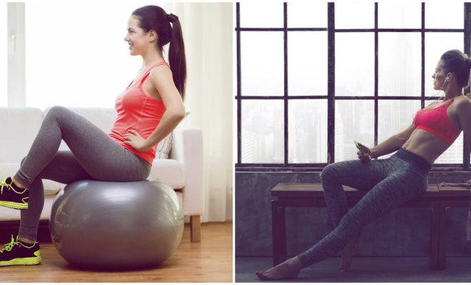 Rutina de ejercicio sentada