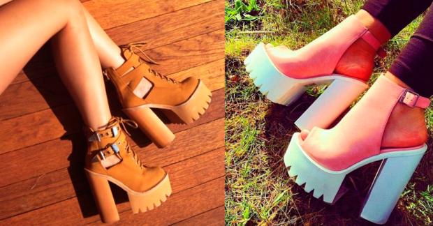 plataformas zapatos tacones