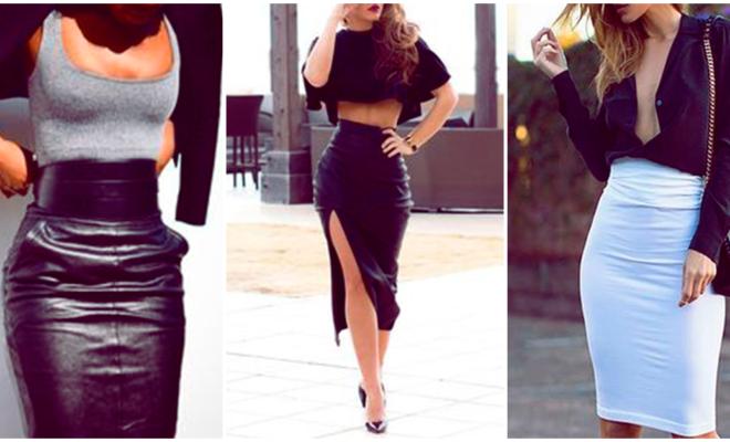 Los outfits más sexys con falda tubo