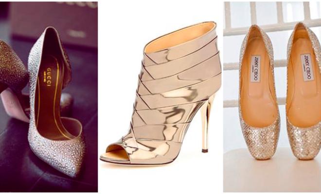 Los zapatos metálicos más lindos