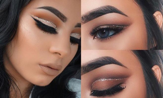 Makeup con glitter paso a paso