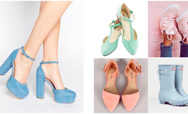 Los mejores zapatos en tono pastel